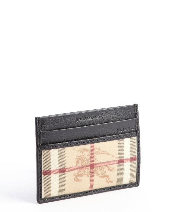 Burberry Haymarket Id Card Holder