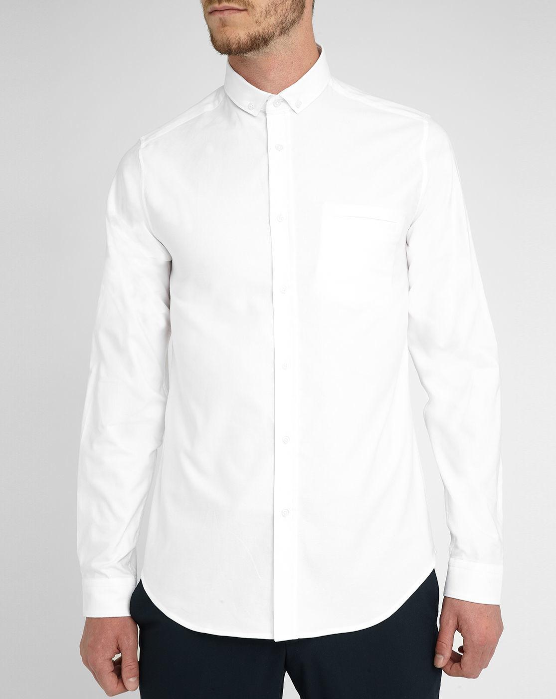 White Gabriel Extra Slim Fit Oxford Small Button