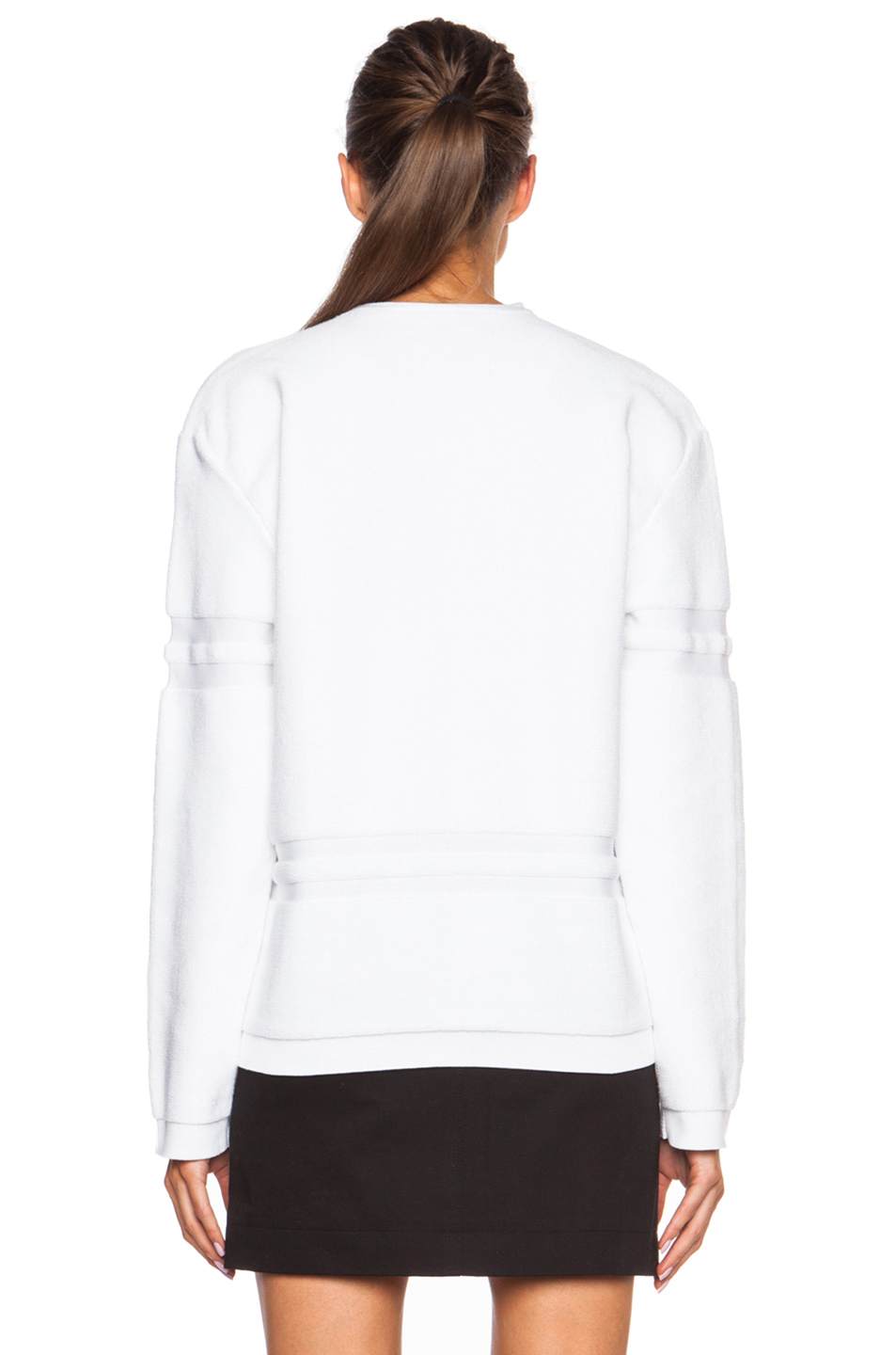 Alexander Wang Wet Cotton Towel Pullover In White Lyst