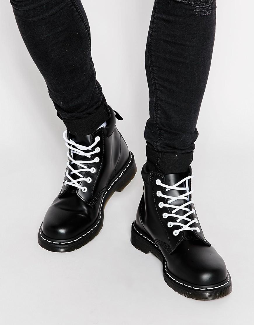 Lyst Dr Martens 6 Eye Boots In Black For Men