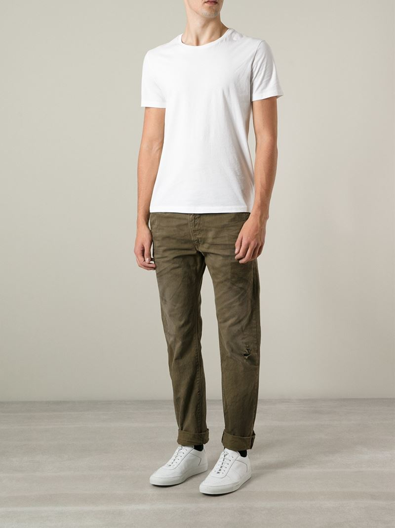 Lyst Diesel P Aily Trousers In Green For Men
