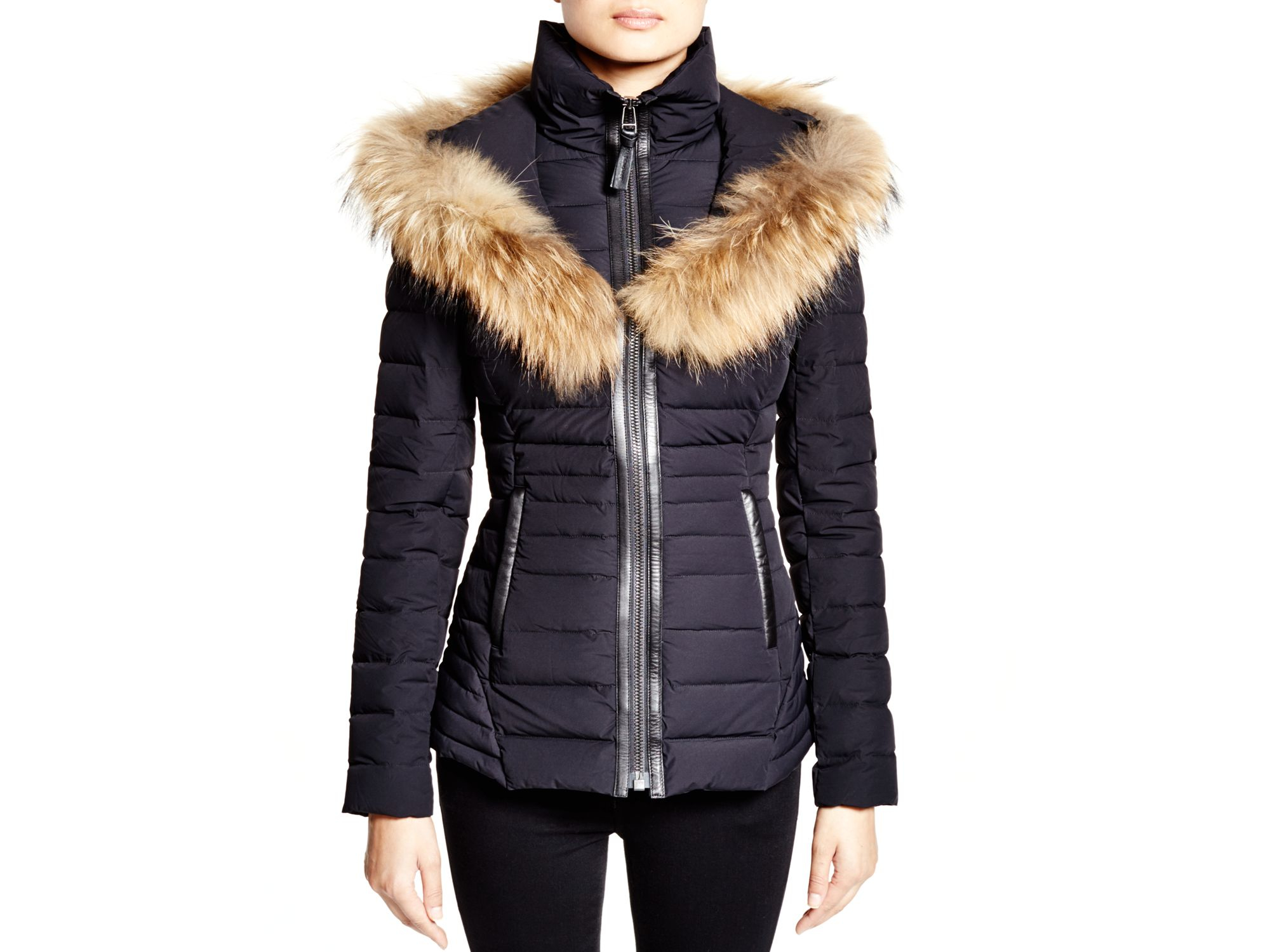 4b11959ca promo code for mackage leather and fur trim jacket uk 4d8bc 8c8bc