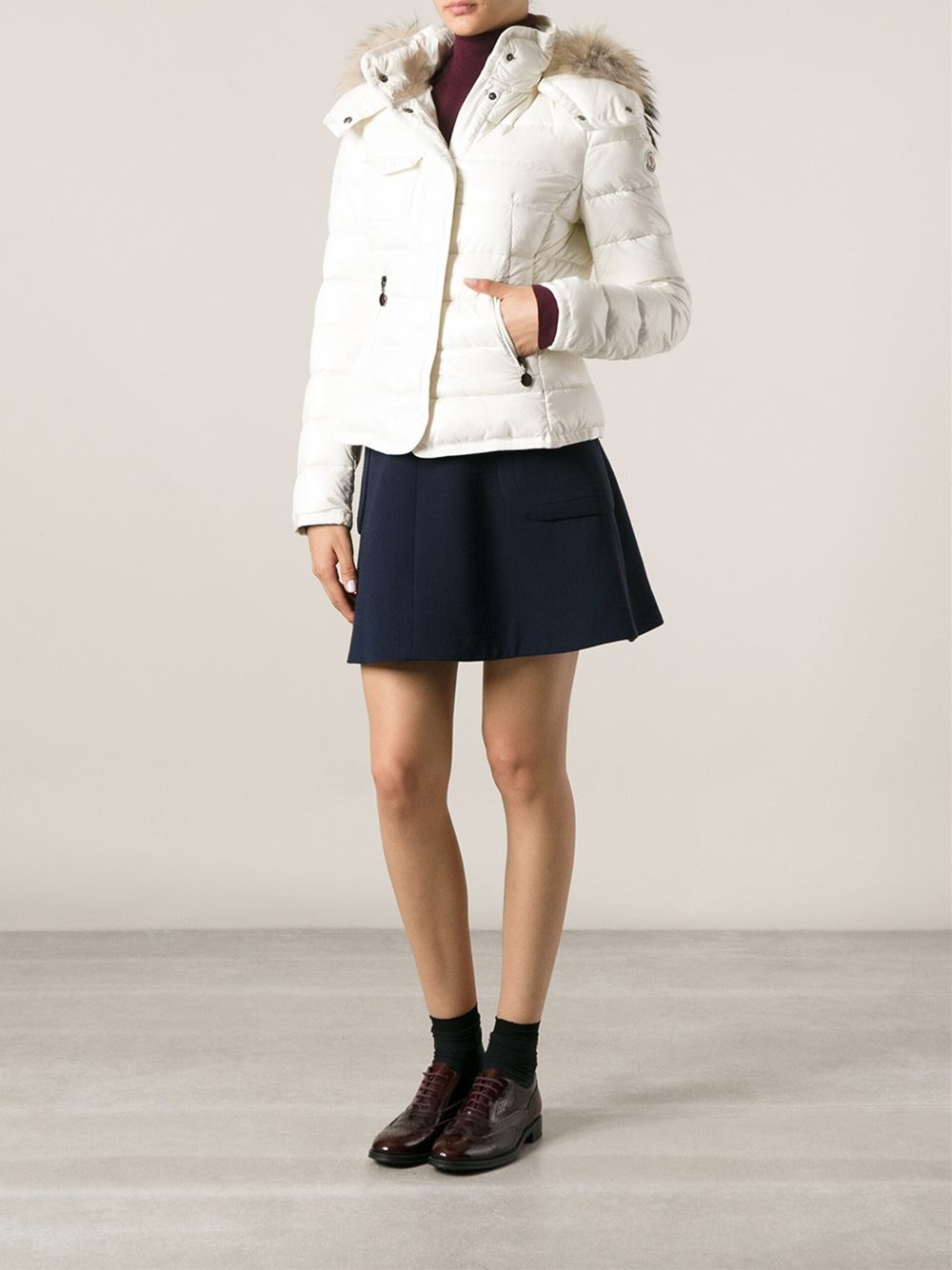 Lyst Moncler Armoise Padded Jacket In White