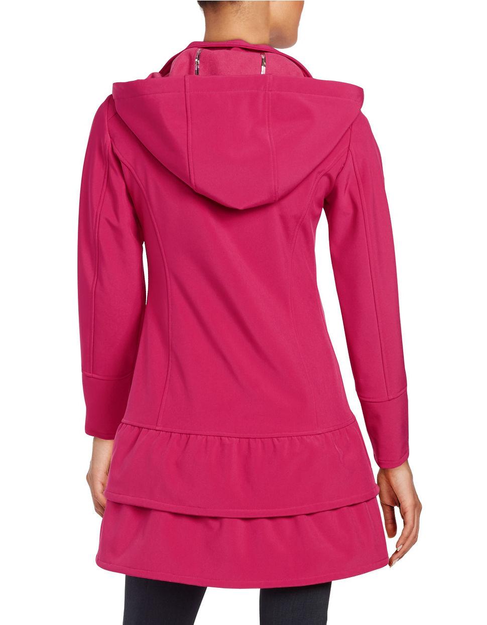 Betsey Johnson Lightweight Peplum Jacket In Pink Lyst