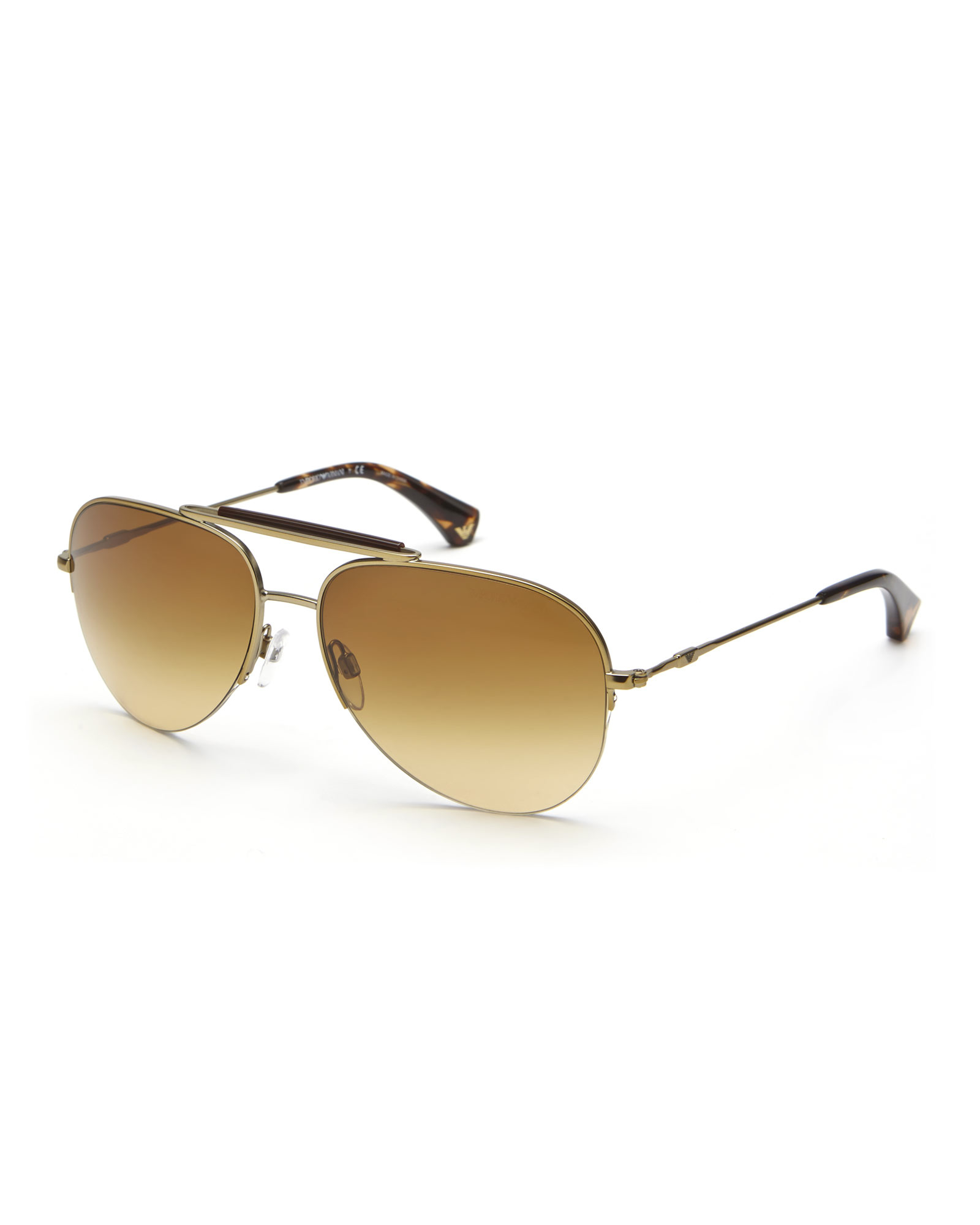 3fe13dcc8aac metallic aviator sunglasses armani