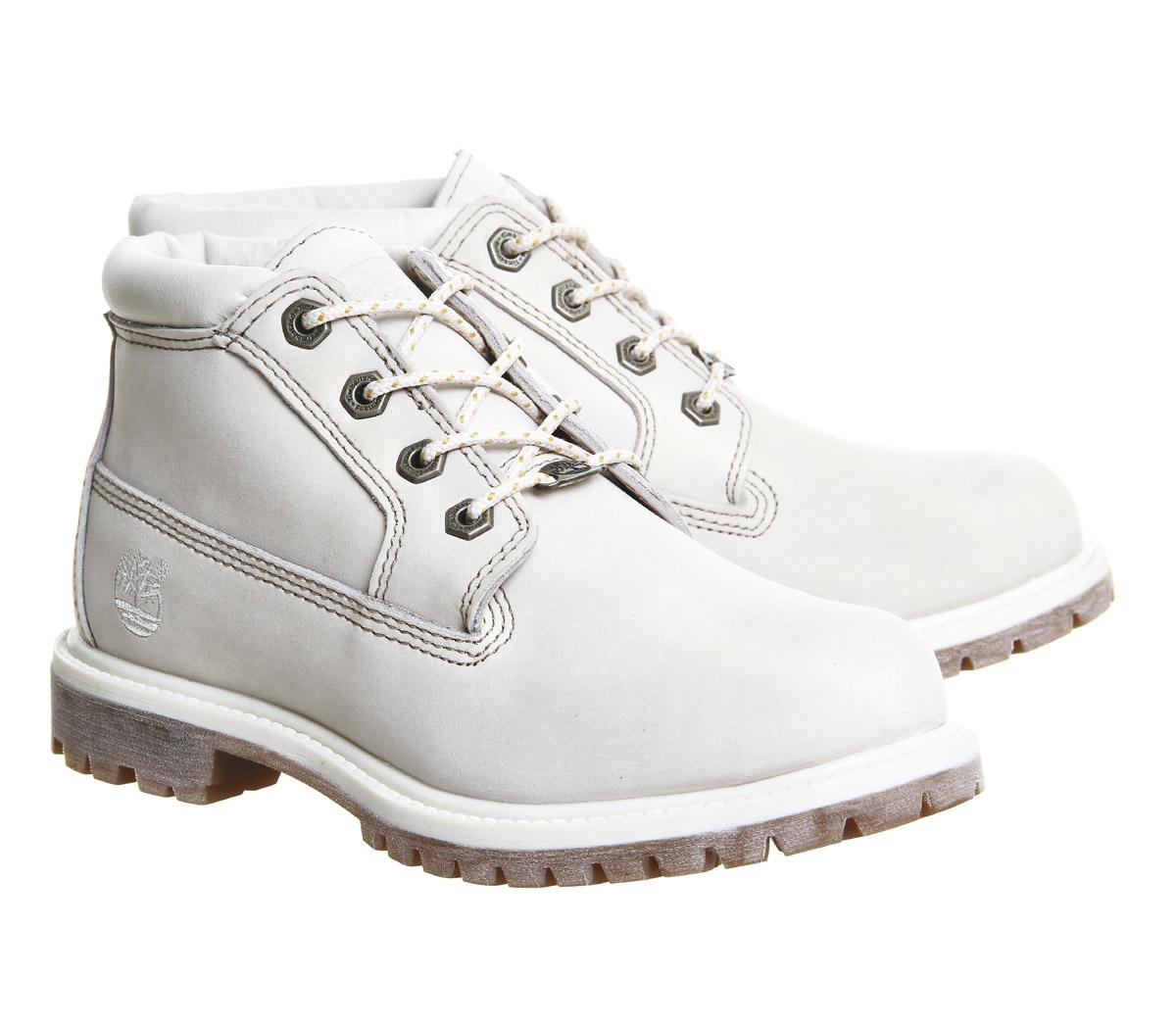 timberland nellie chukka waterproof boots in white