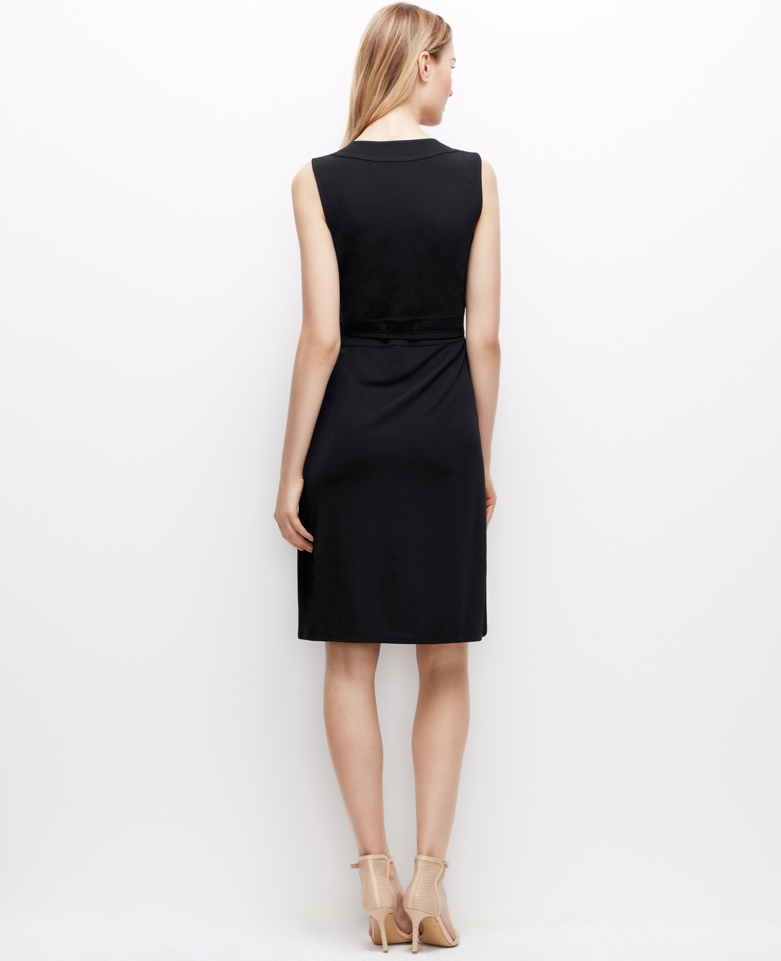 Ann Taylor Sleeveless Wrap Dress In Black Lyst
