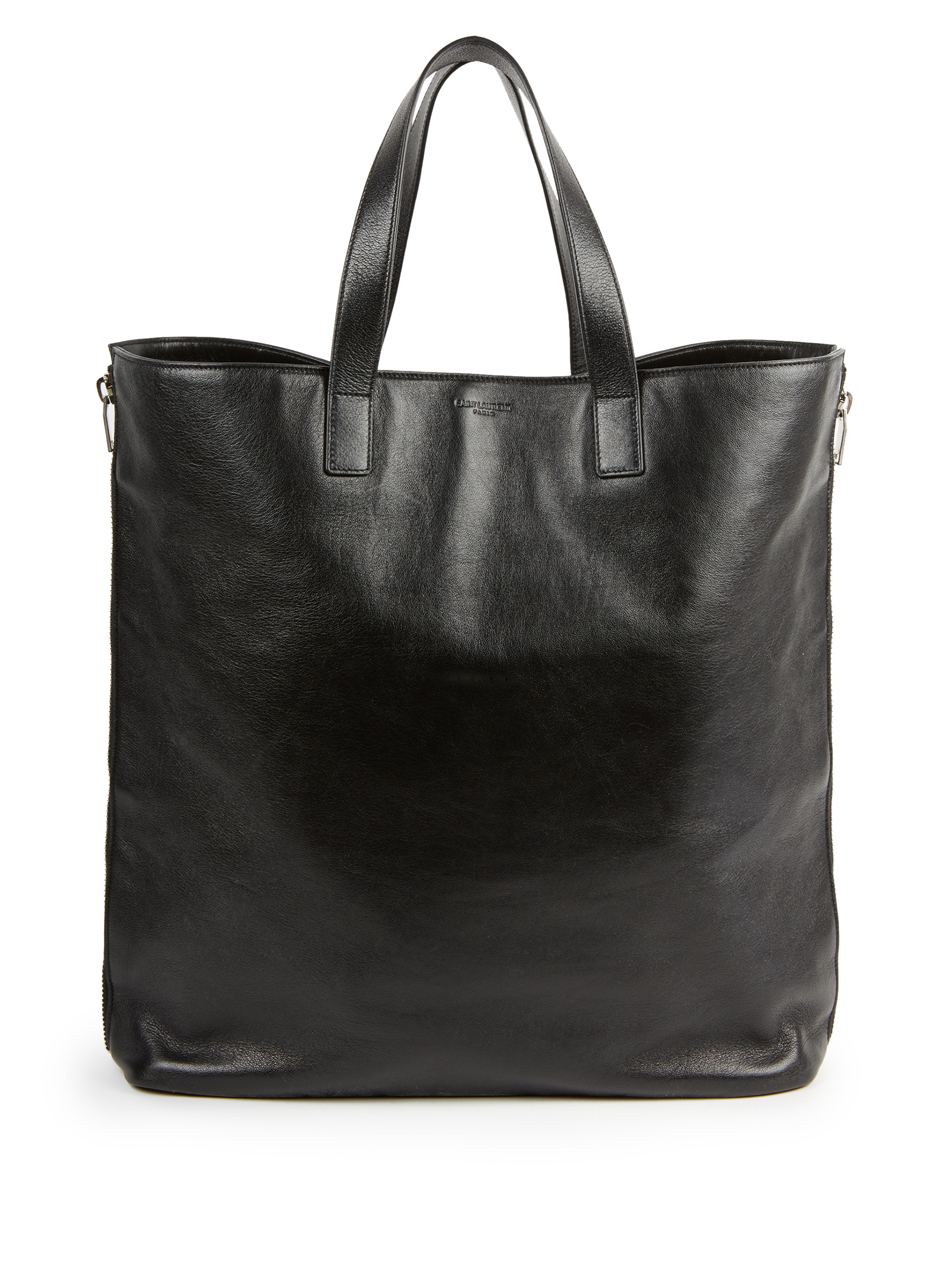 lyst saint laurent double zip shopper tote in black for men. Black Bedroom Furniture Sets. Home Design Ideas