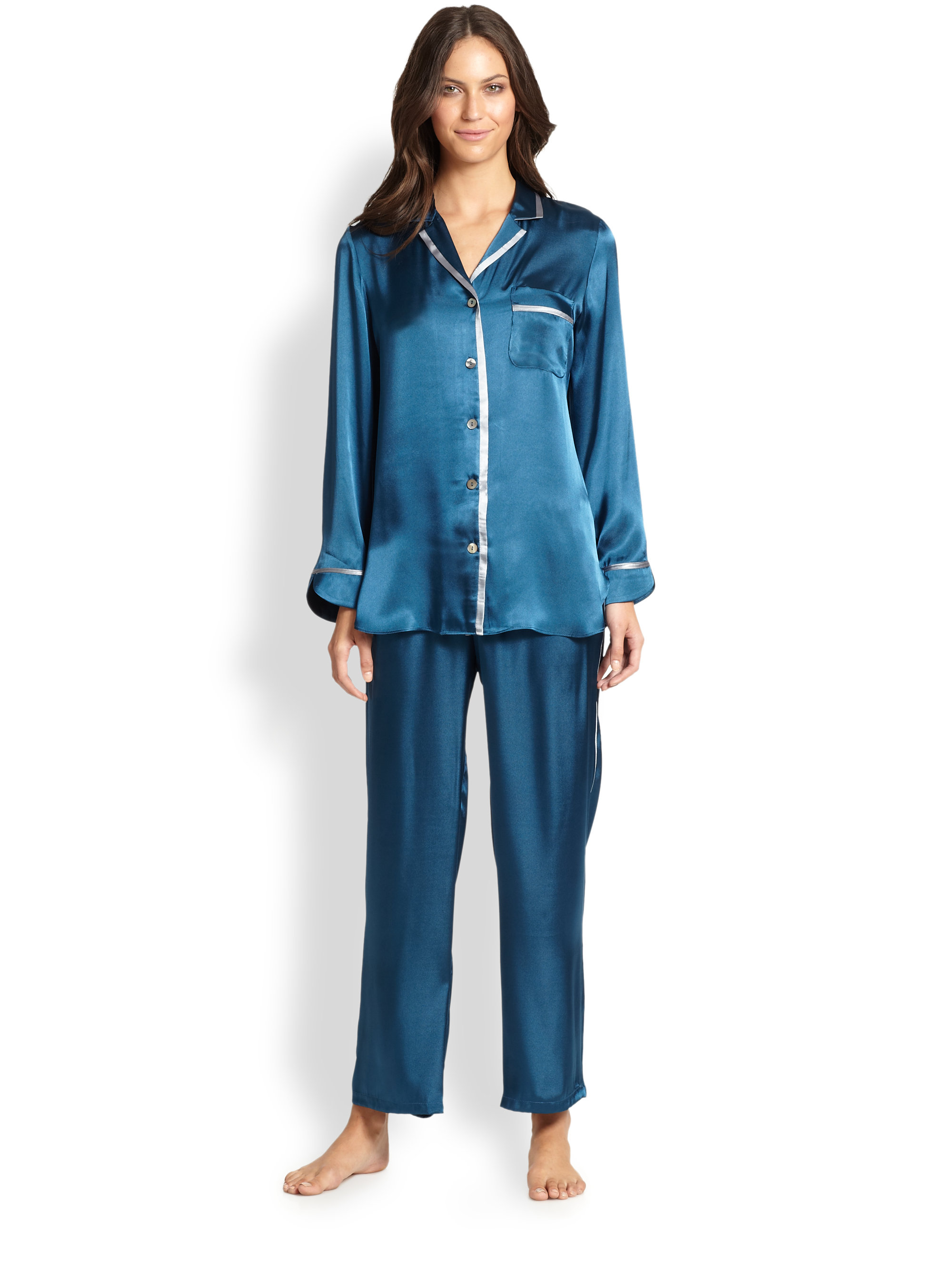 Find pajamas blue satin at ShopStyle. Shop the latest collection of pajamas blue satin from the most popular stores - all in one place.