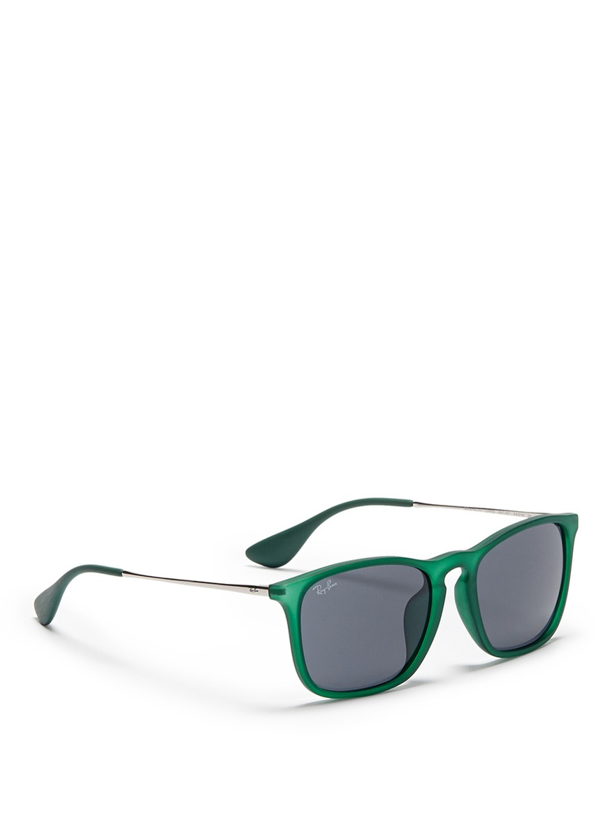 Ray Ban Wireframe Glasses : Ray-ban chris Acetate Frame Wire Temple Sunglasses in ...