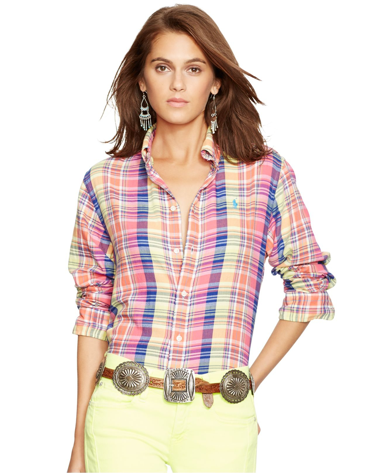Lyst - Polo Ralph Lauren Relaxed-fit Cotton Plaid Shirt 7ae4848b7c