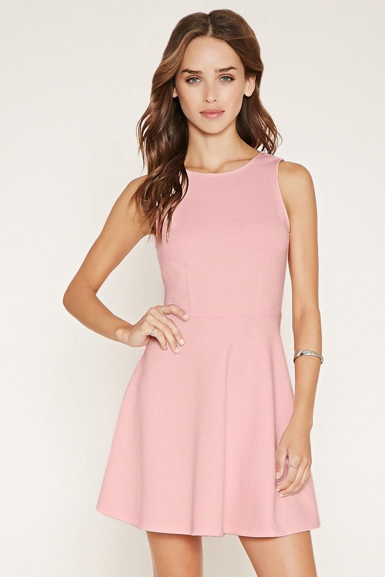 Forever 21 V-back Skater Dress in Pink | Lyst - photo #26