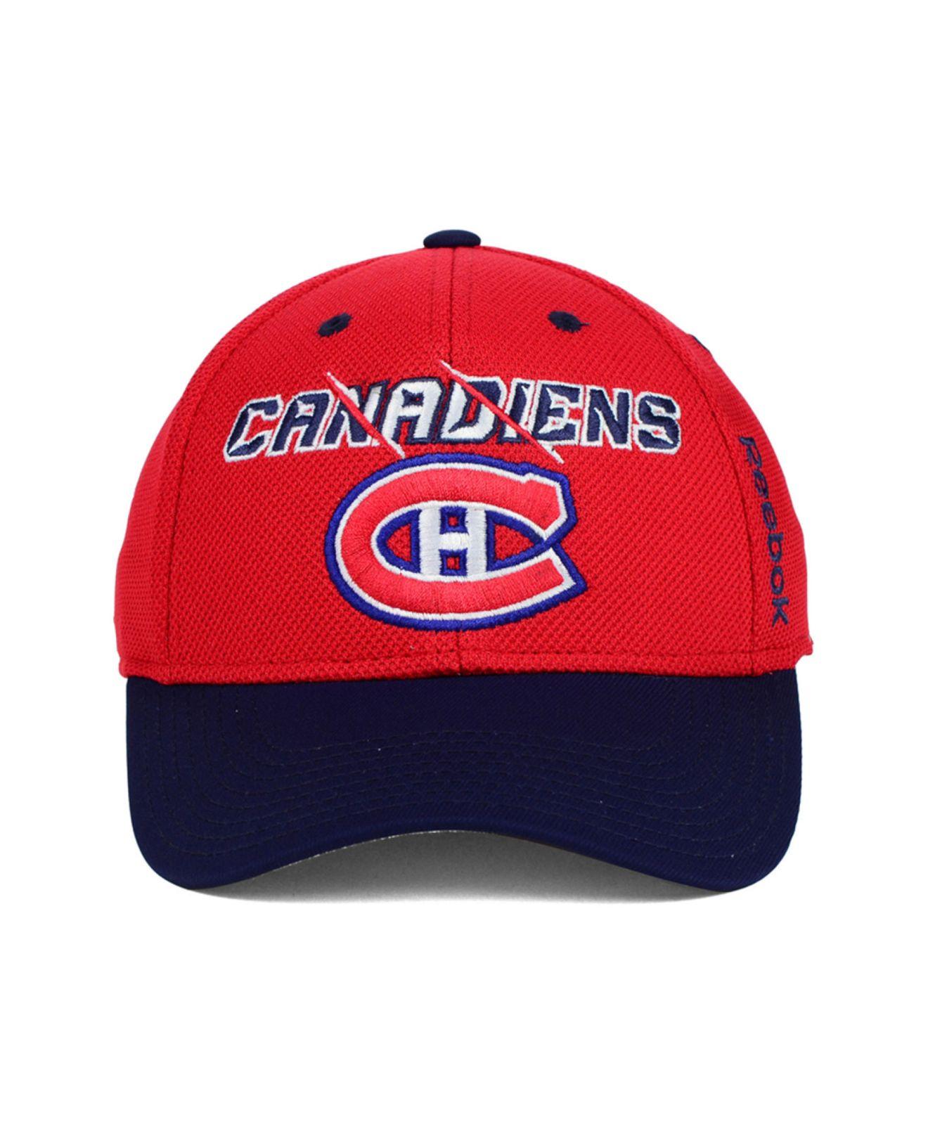 Lyst - Reebok Montreal Canadiens 2nd Season Flex Cap in Red for Men e4064c6b33bf