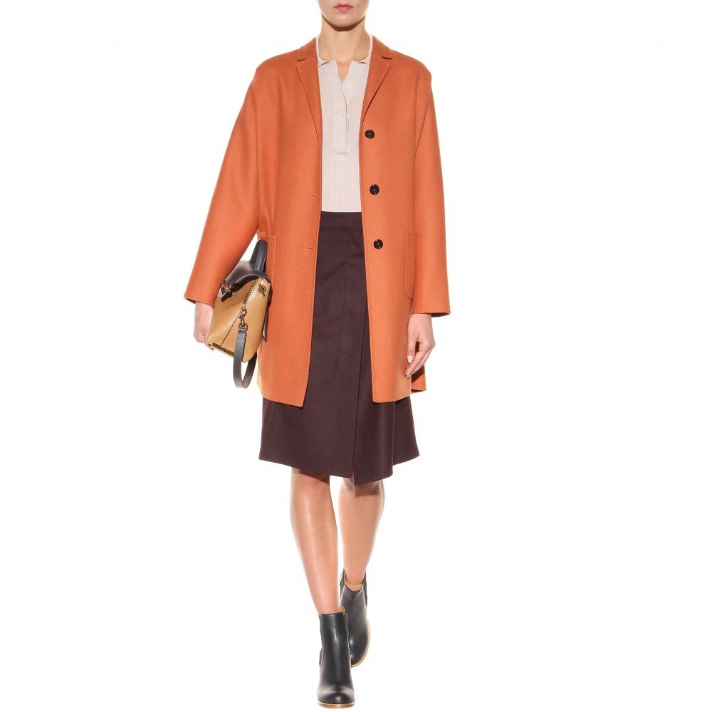 chloe satchel handbag - Chlo�� Clare Medium Leather Shoulder Bag in Brown | Lyst