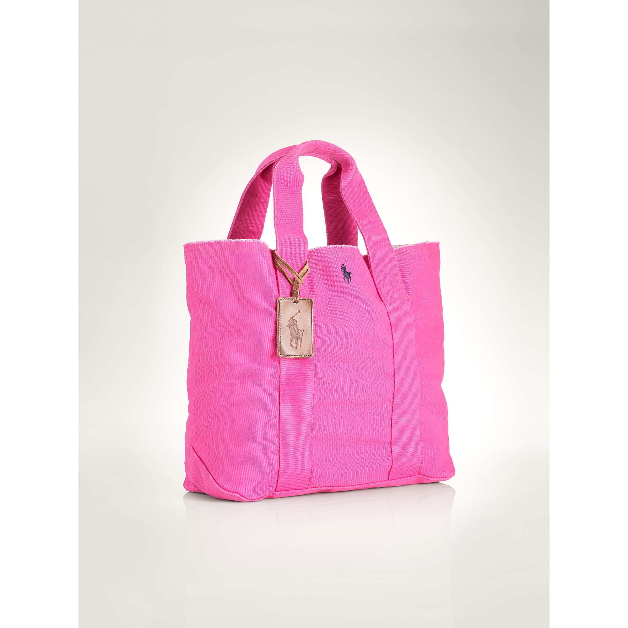 73d8e6fdd69c Lyst - Ralph Lauren Pony Canvas Tote in Pink