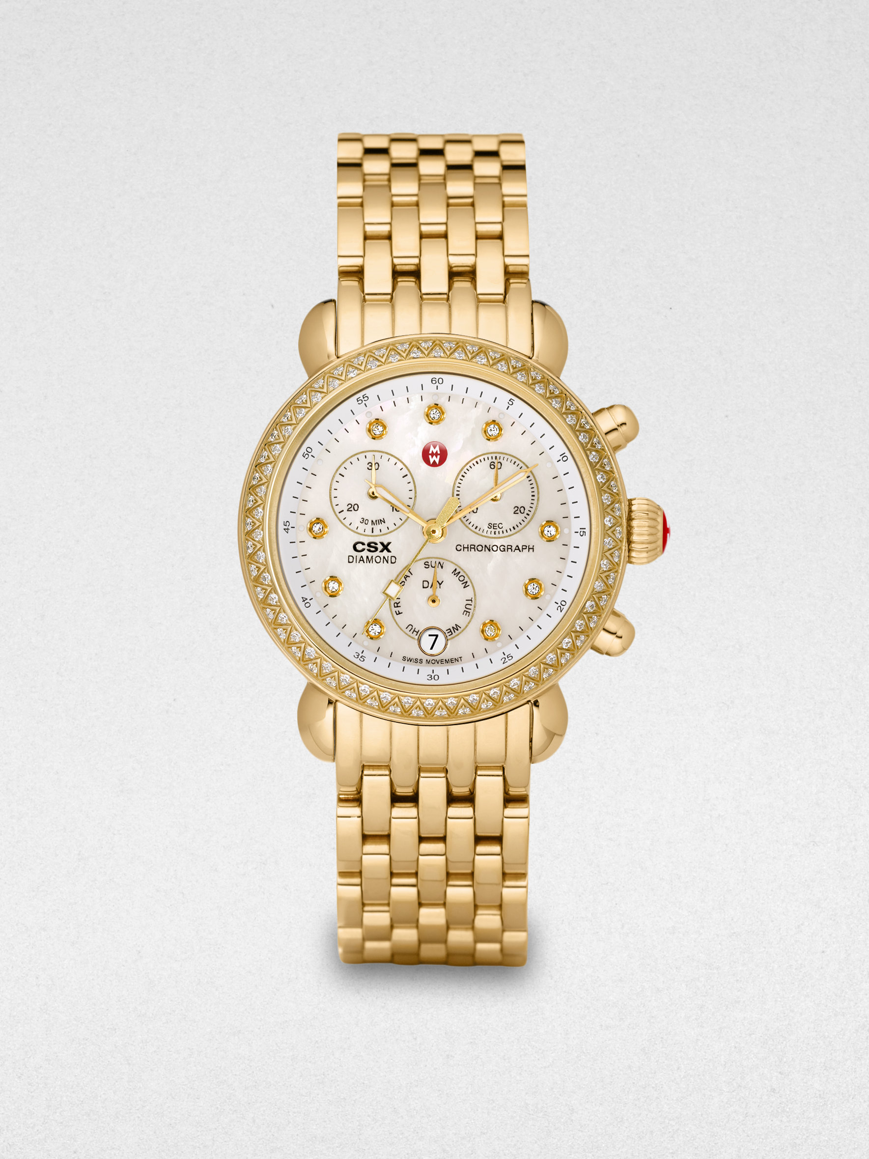 michele csx of pearl goldtone stainless