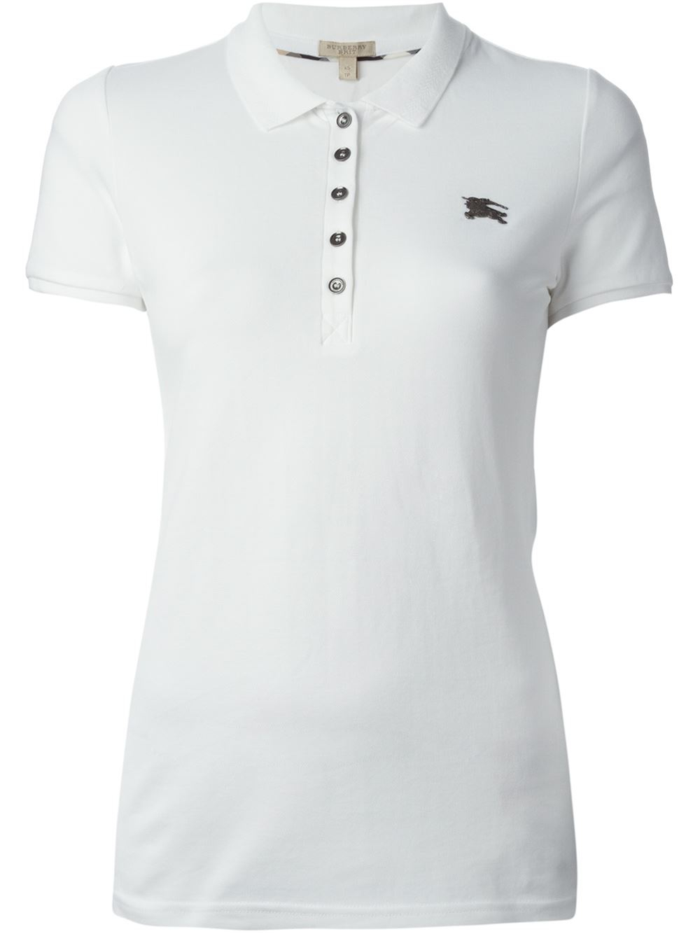 Burberry Brit Classic Polo Shirt In White Lyst