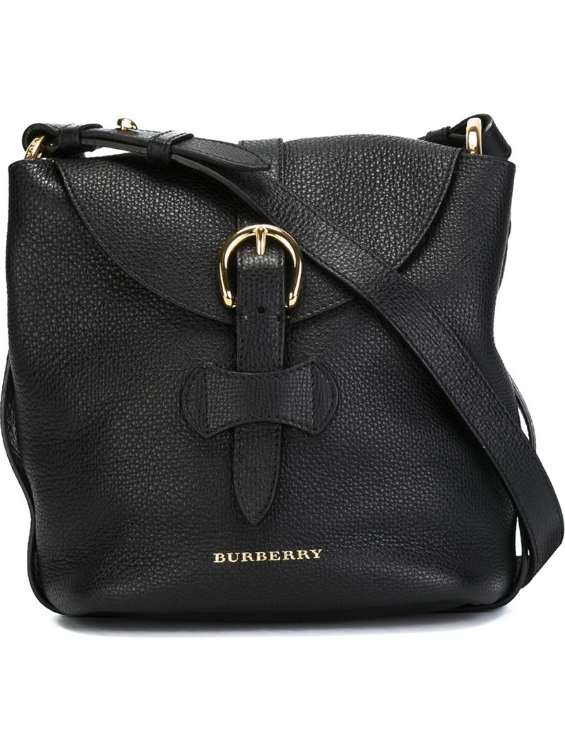 Lyst - Burberry Buckle Cross-Body Bag in Black 94220589691c8