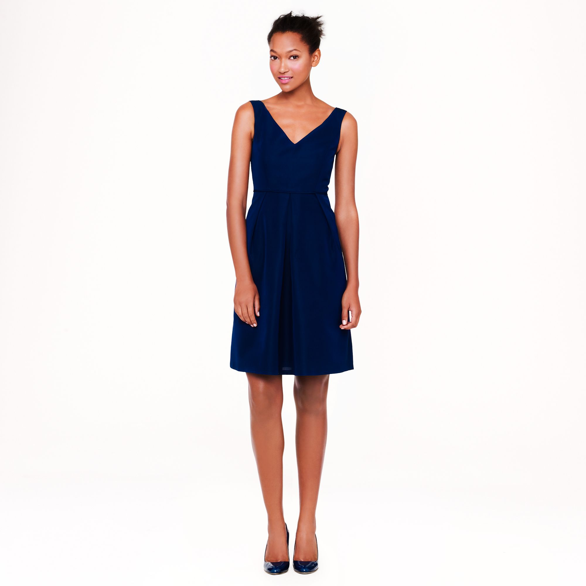 Kami dress in classic faille in blue haven blue for J crew beach wedding dress