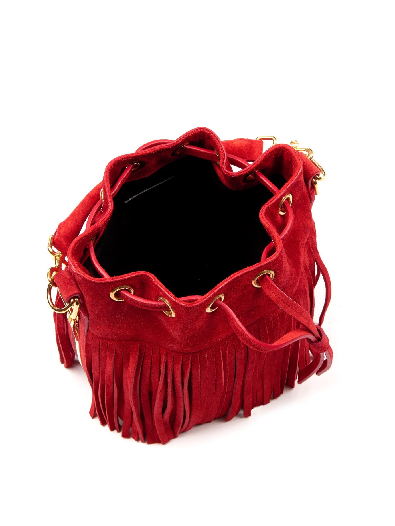 ysl chyc cabas price - emmanuelle tricolor fringe bucket bag, red/pink/purple