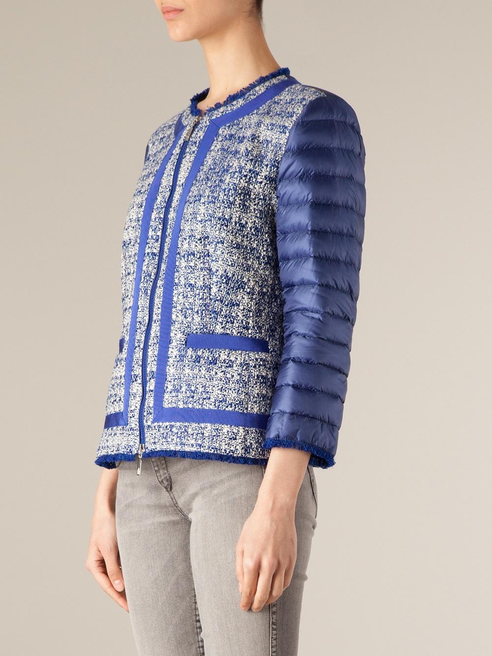 moncler tweed coat