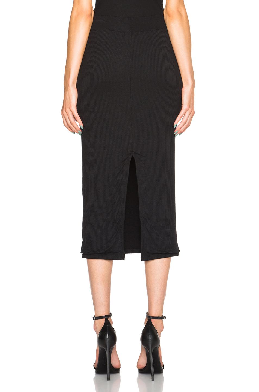 atm midi tube skirt in black