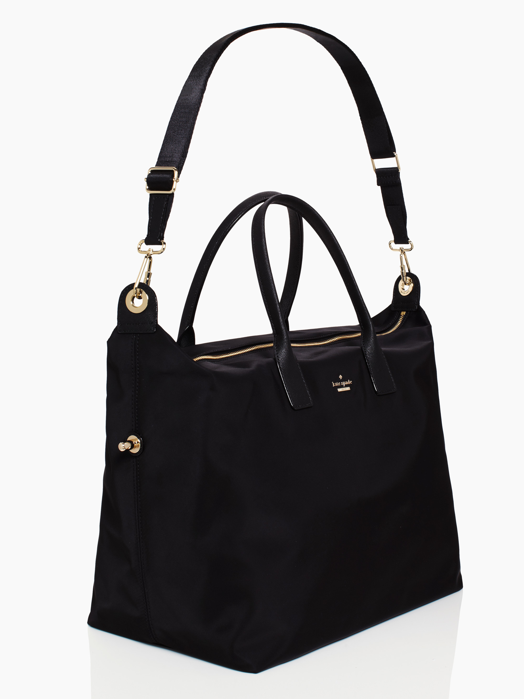 Kate Spade New York Classic Nylon Lyla Weekender In Black
