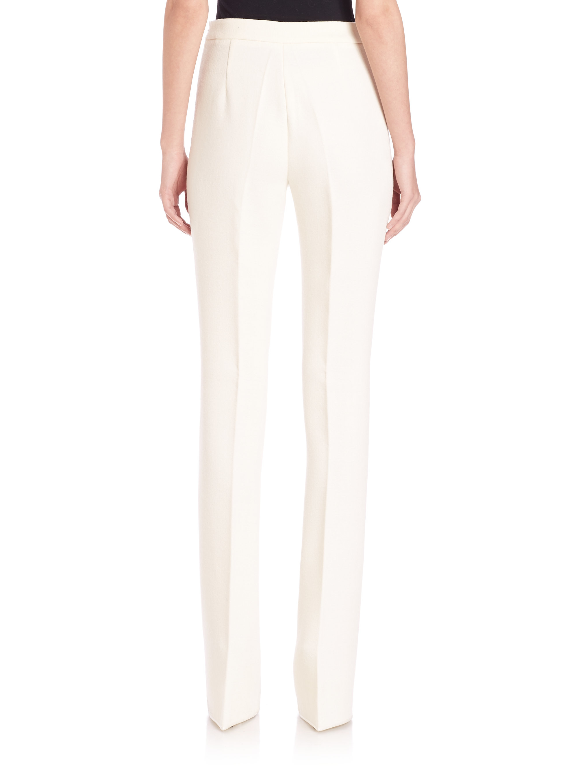 Bootcut trousers white