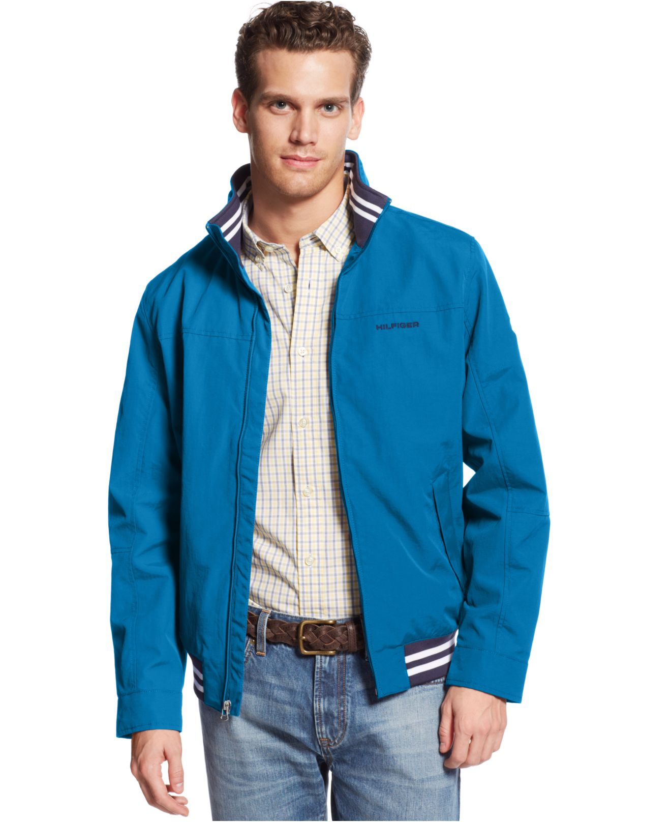 lyst tommy hilfiger regatta jacket in blue for men. Black Bedroom Furniture Sets. Home Design Ideas