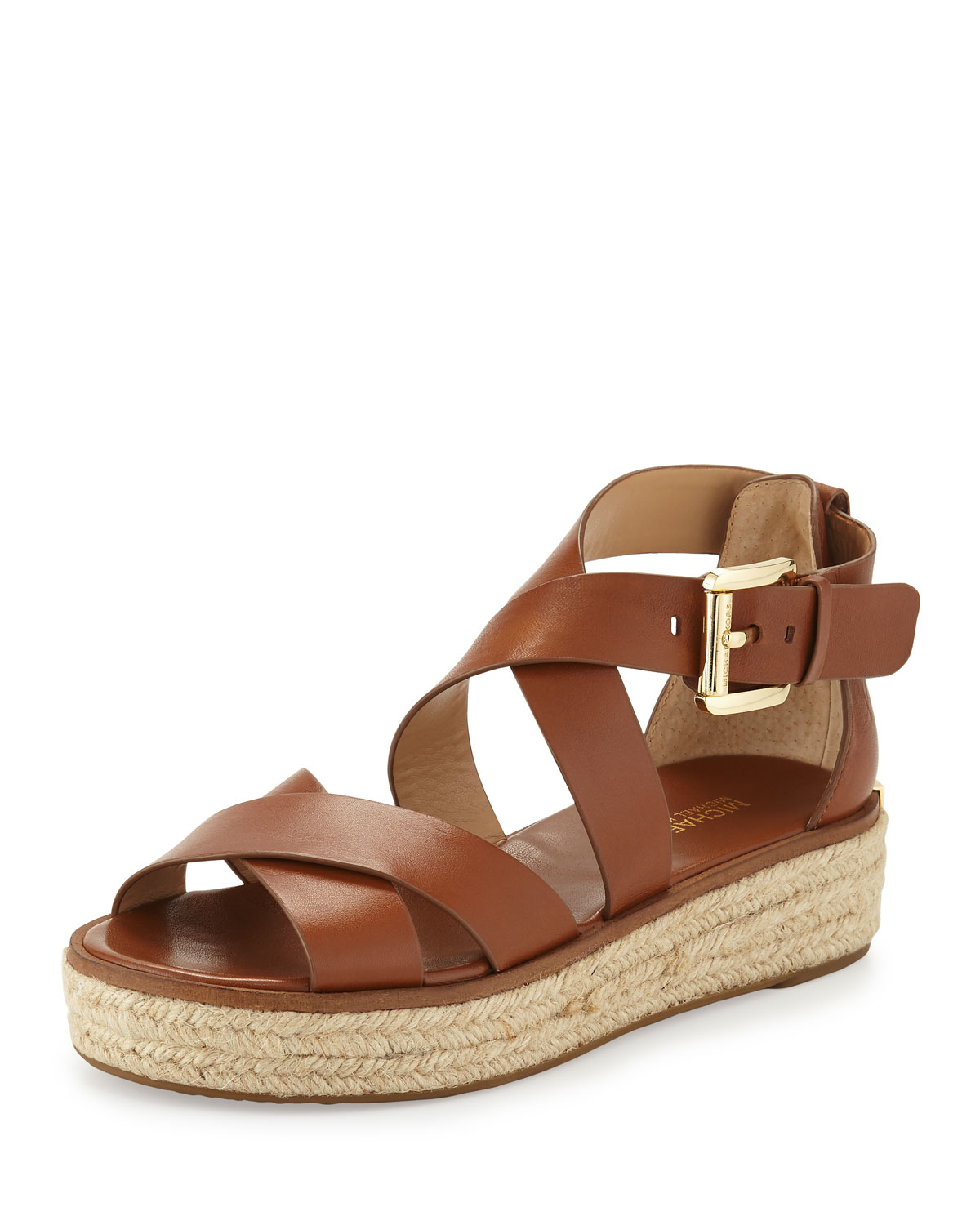 Michael michael kors Darby Leather Crisscross Sandal in ...