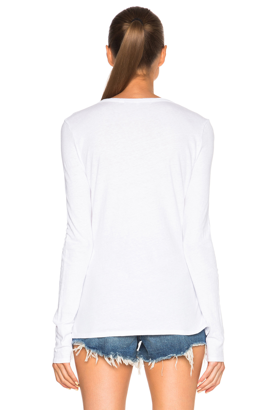 Pam Amp Gela Long Sleeve Lace Up Top In White Lyst