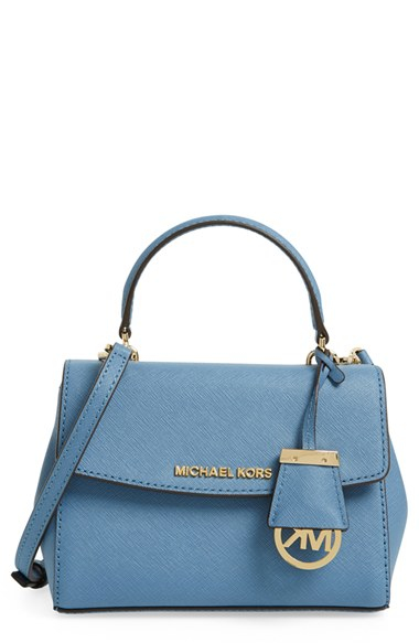 66603822465f ... discount code for lyst michael michael kors extra small ava leather crossbody  bag fea5d 8548b