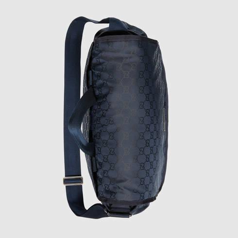 Lyst Gucci Nylon Guccissima Diaper Bag In Blue