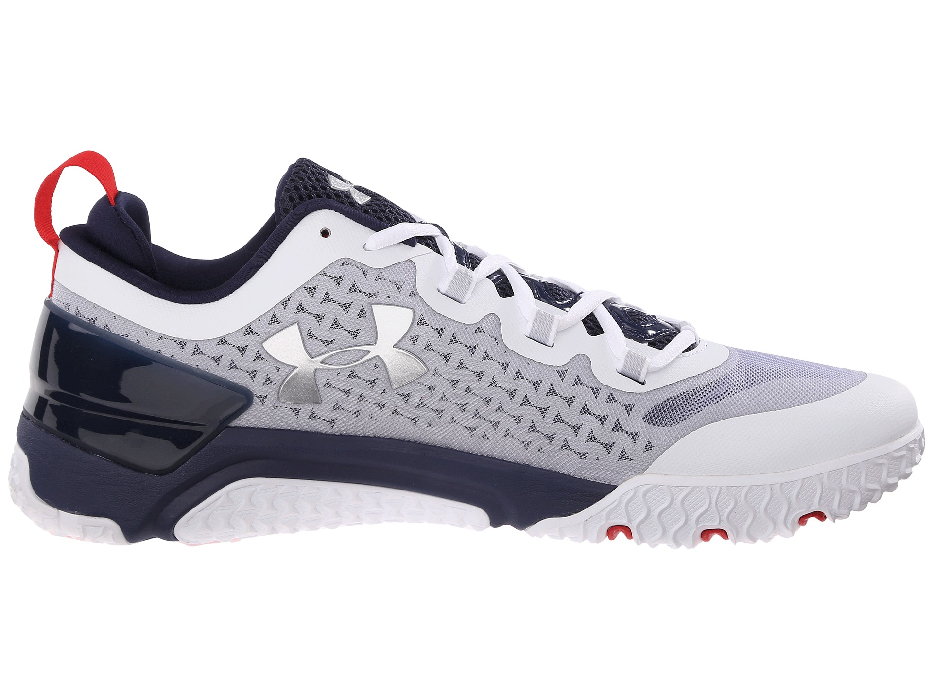 Under Armour Leather Shoes White