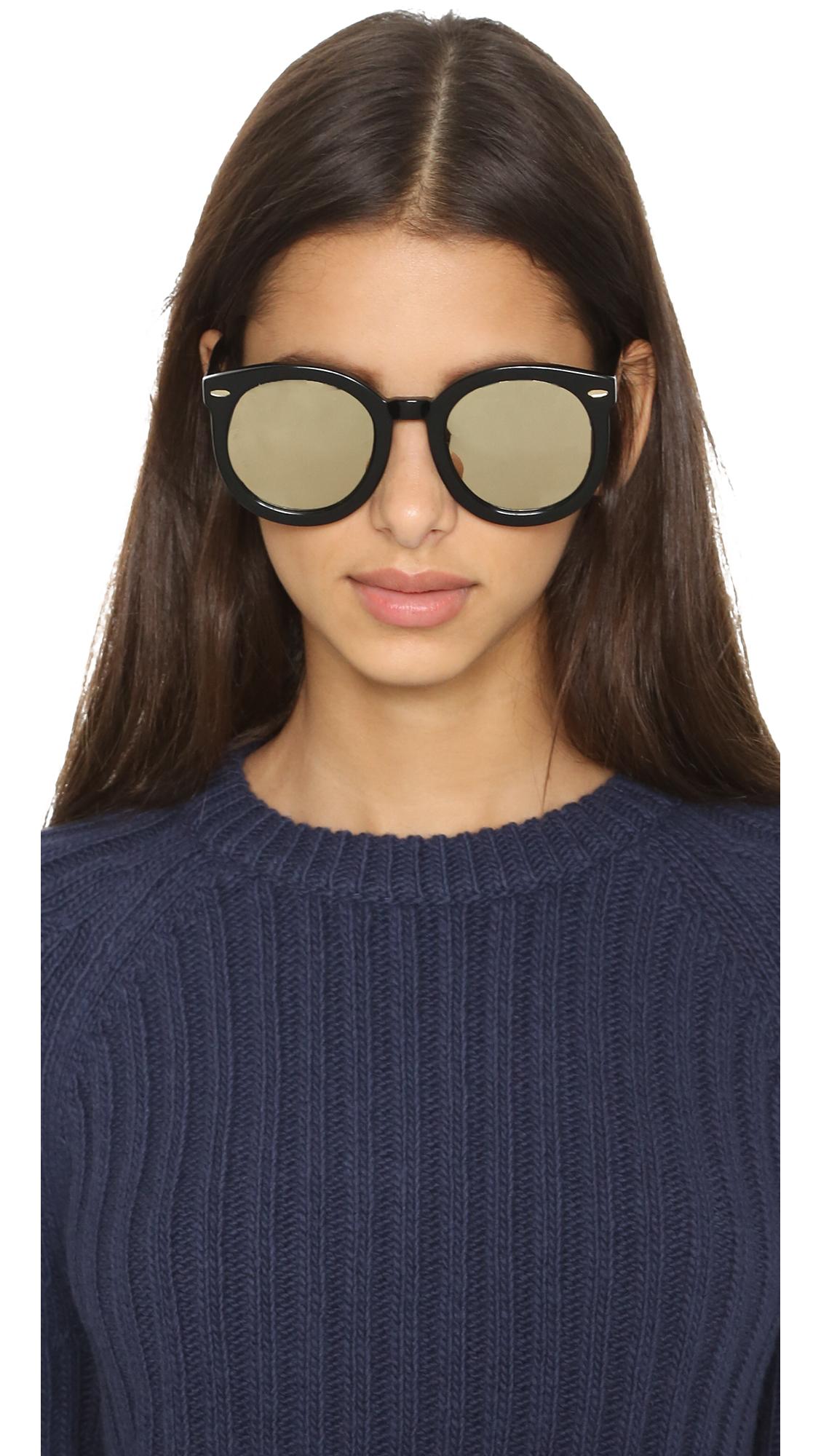 e576555440f Lyst - Karen Walker Superstars Super Duper Strength Sunglasses ...