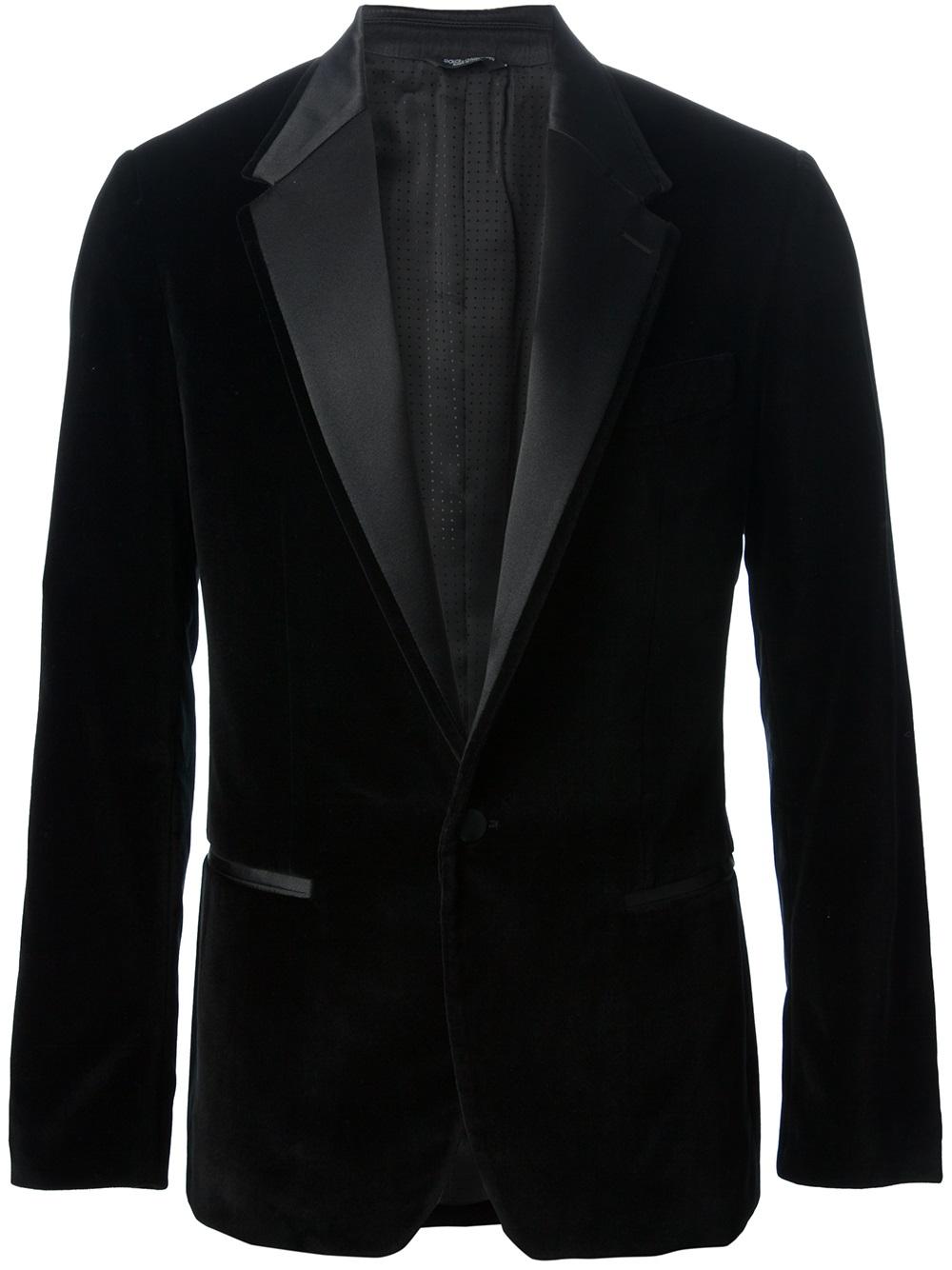 Dolce Amp Gabbana Smoking Jacket In Black For Men Lyst