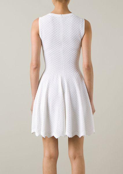 Azzedine Alaïa Azzédine Alaïa White Stretch Knitwear Dress ...