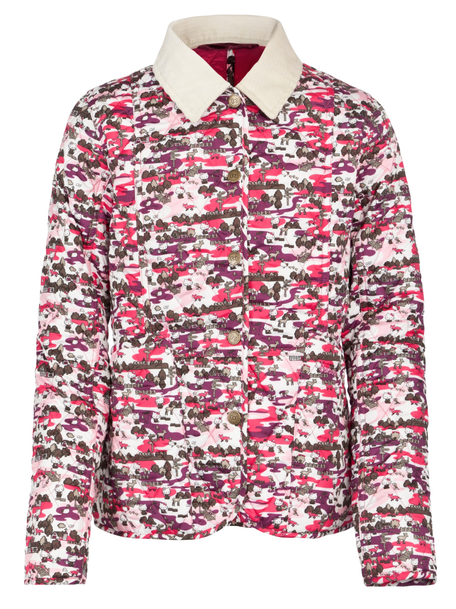8f5deae86 Barbour Girls' Clara Hello Kitty Quilt Jacket in Pink - Lyst