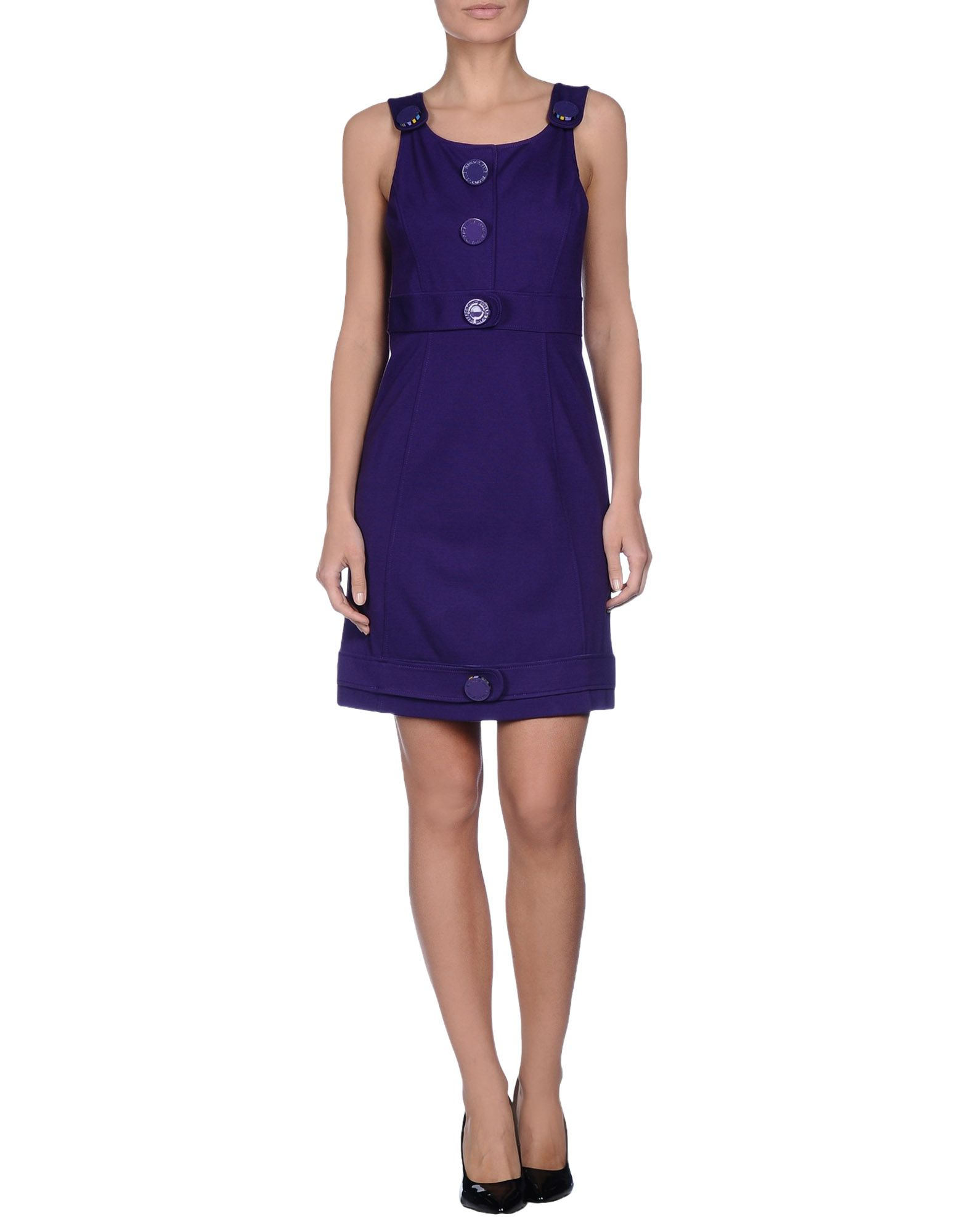 lyst versace jeans short dress in purple