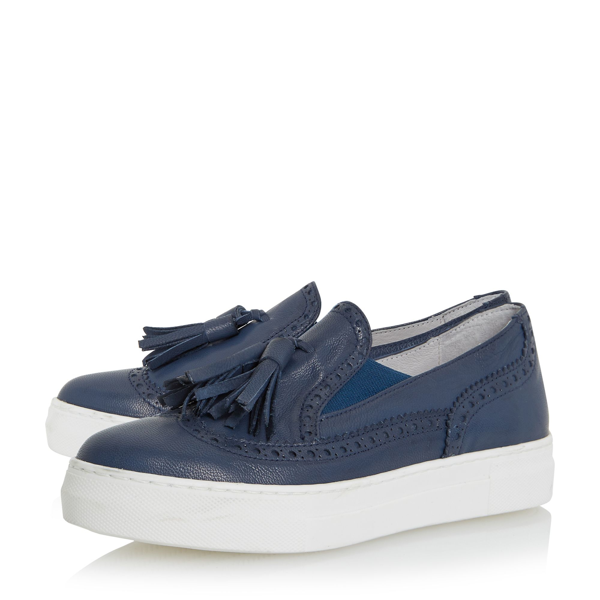 Black White Sole Wingtip Shoes
