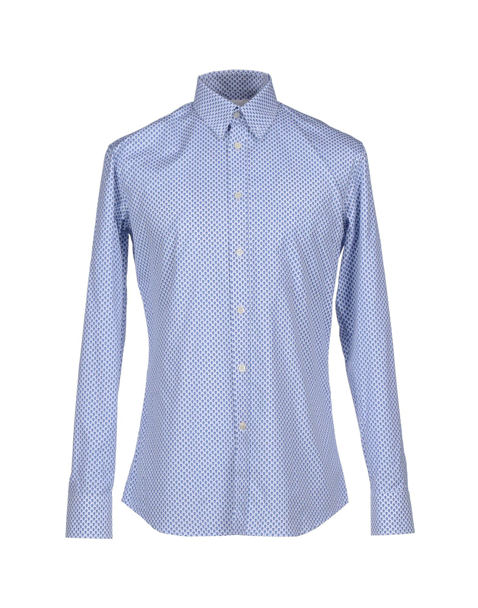 Lyst alexander mcqueen shirt in blue for men for Alexander mcqueen shirt men
