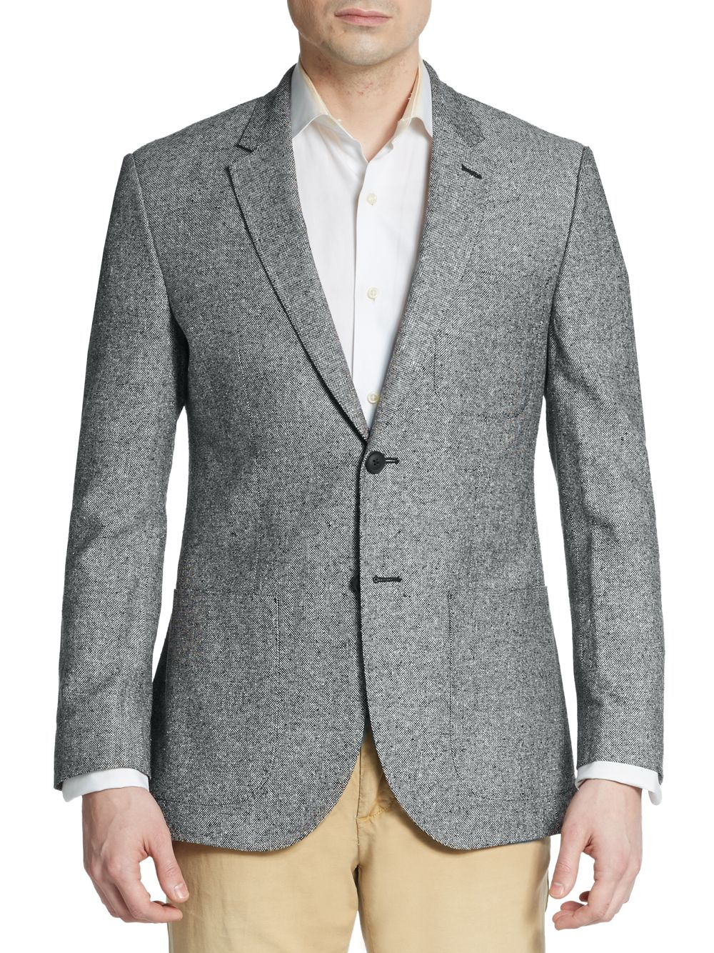 English laundry Regular-fit Tweed Silk Sportcoat in Gray for Men ...