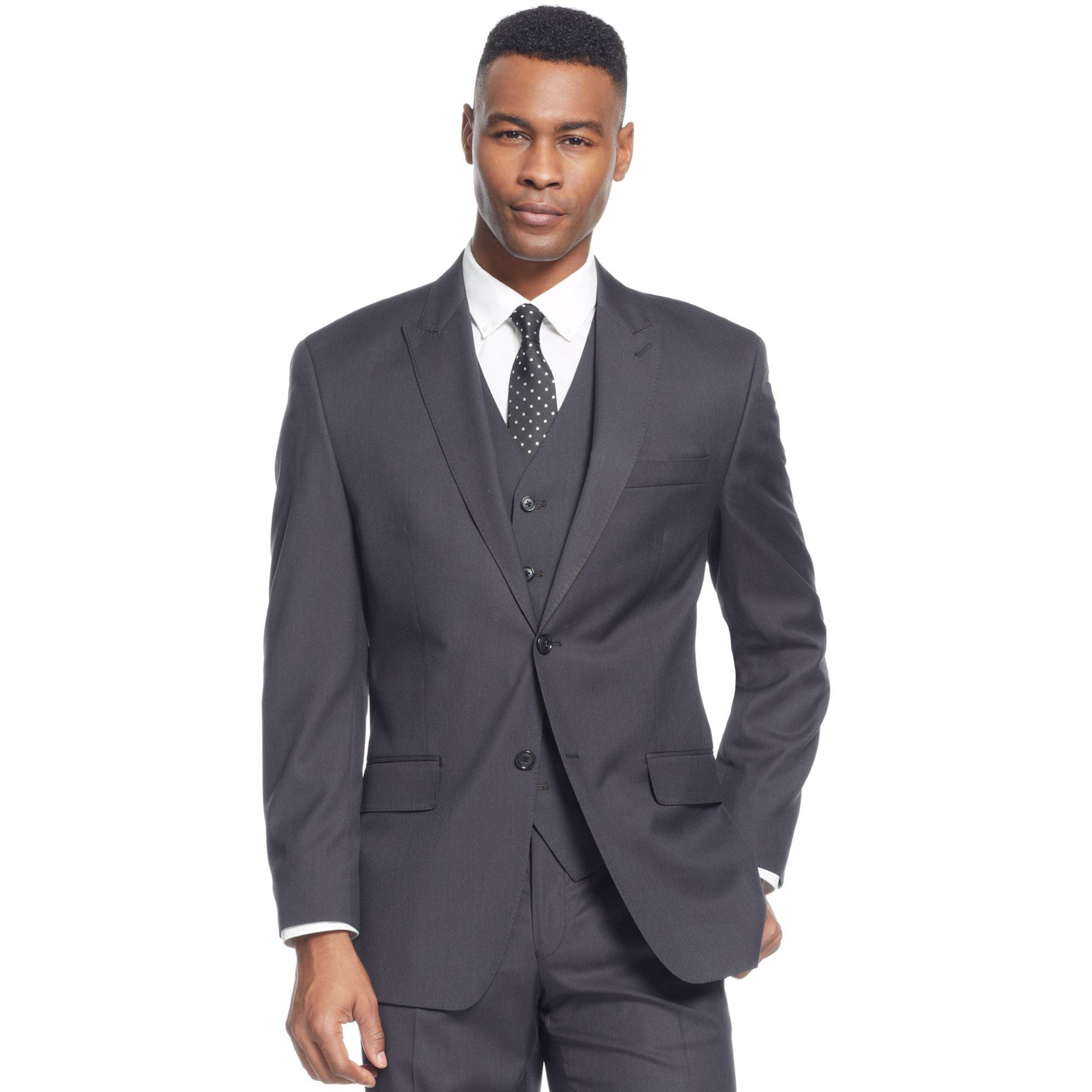 Sean John Black Diamond Texture Jacket in Black for Men | Lyst