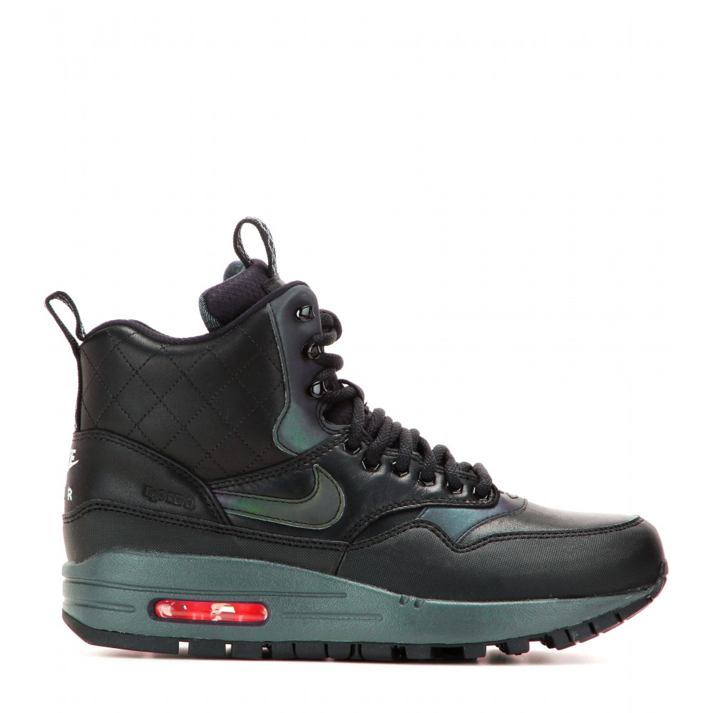 nike air max 1 mid sneaker boots in black lyst