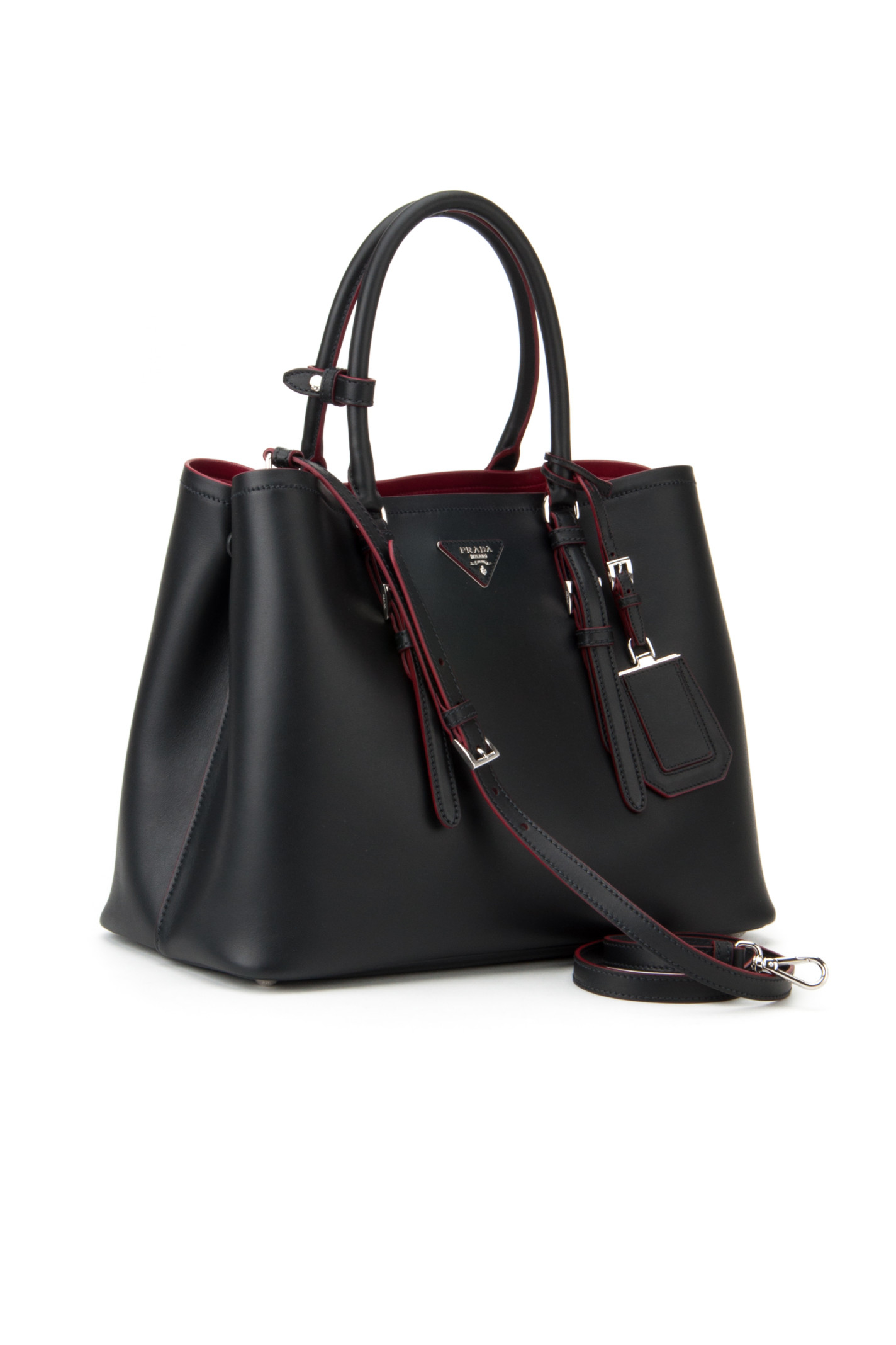 blue prada handbag - Prada Borsa City Sport in Red (NERO/CILIEGIA) | Lyst