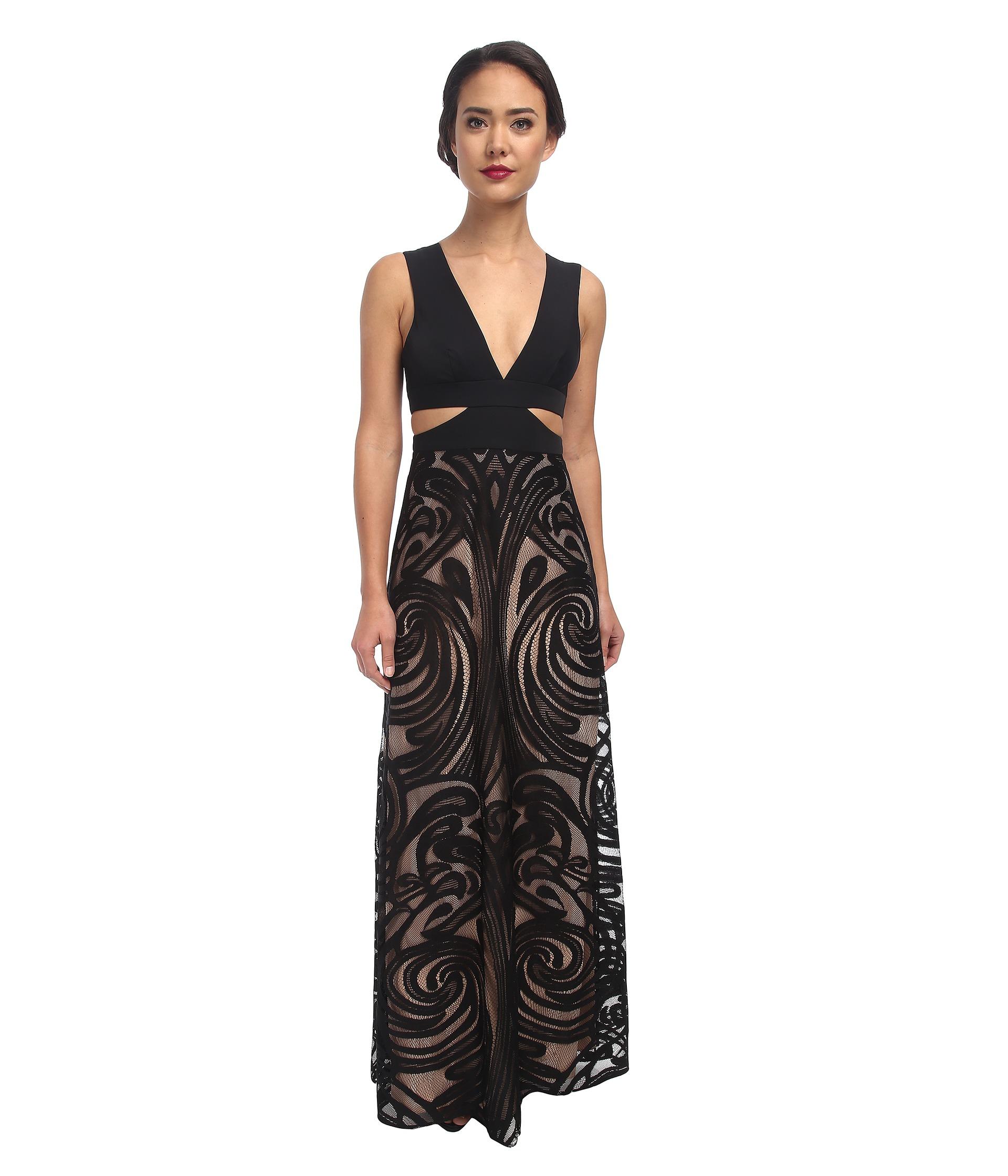 Lyst - Bcbgmaxazria Marilyne Deep V-Neck Dress With Cutout in Black