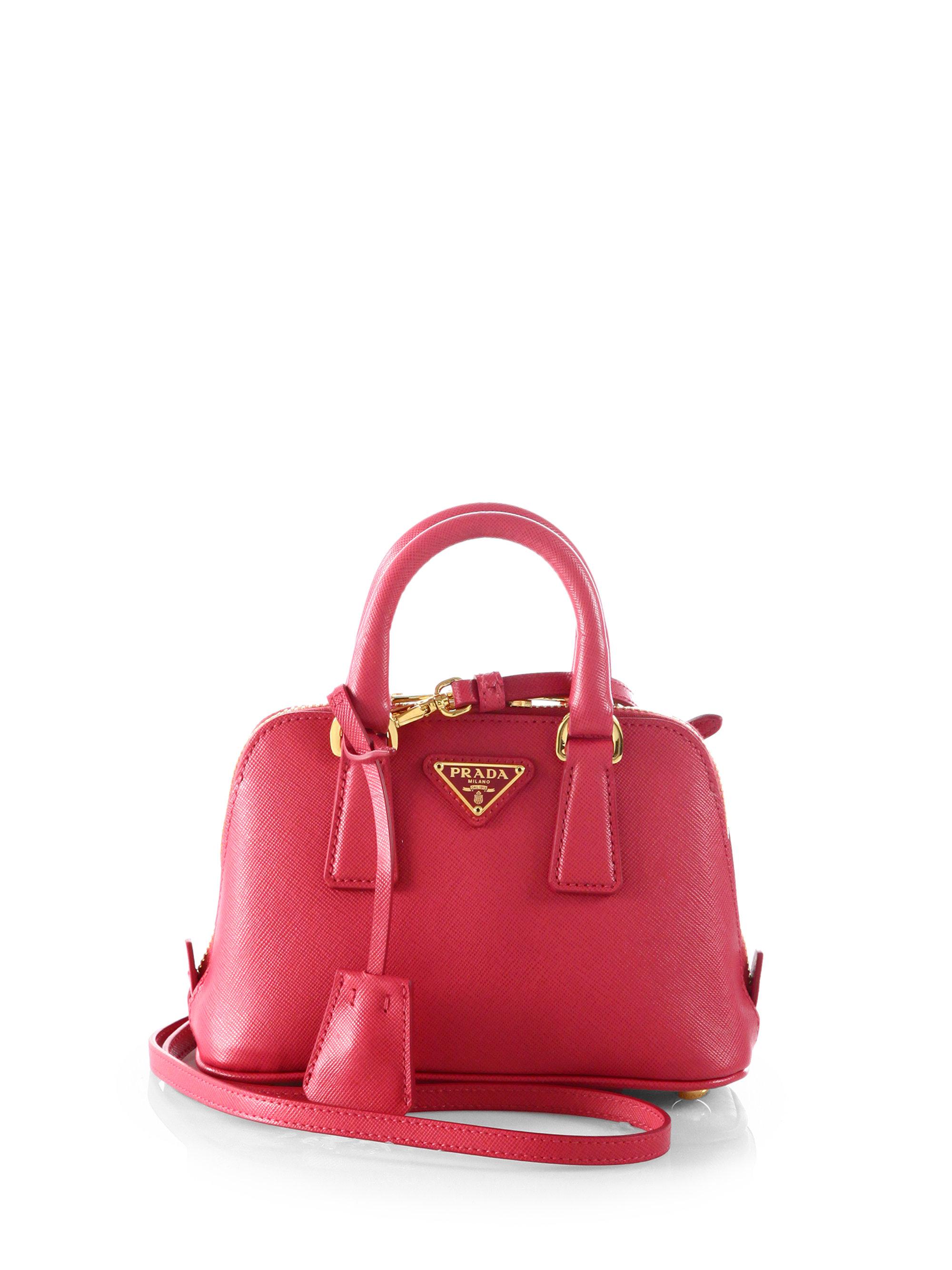 dd546d93ed59 ... shoulder bag reebonz 8a372 c5bea new zealand lyst prada saffiano lux  double handle mini satchel in pink 6f57d 419b8 ...
