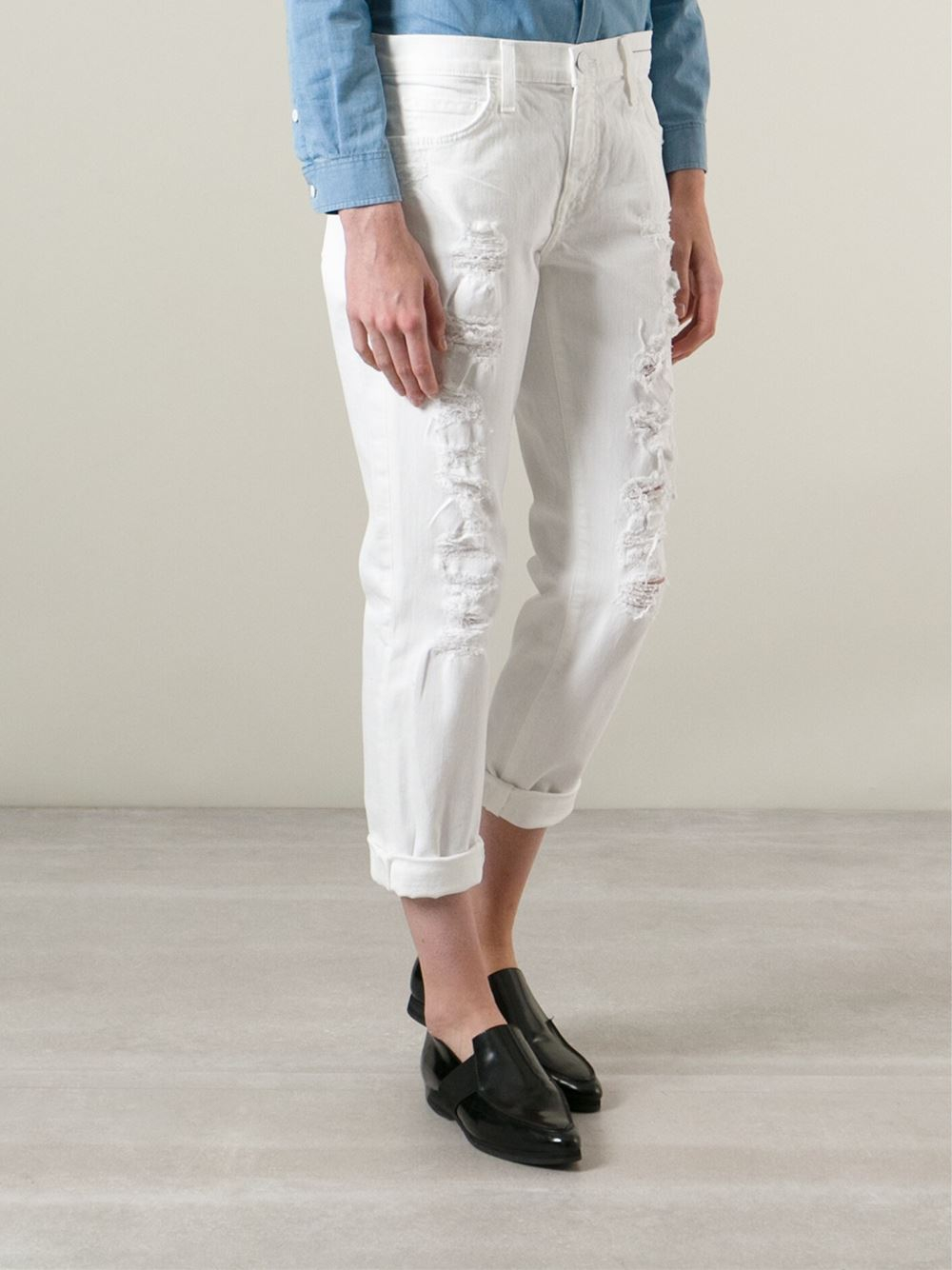 Excellent Lips Torn Jeans Women Jeans Pencil Pants And Feetin Jeans From Women