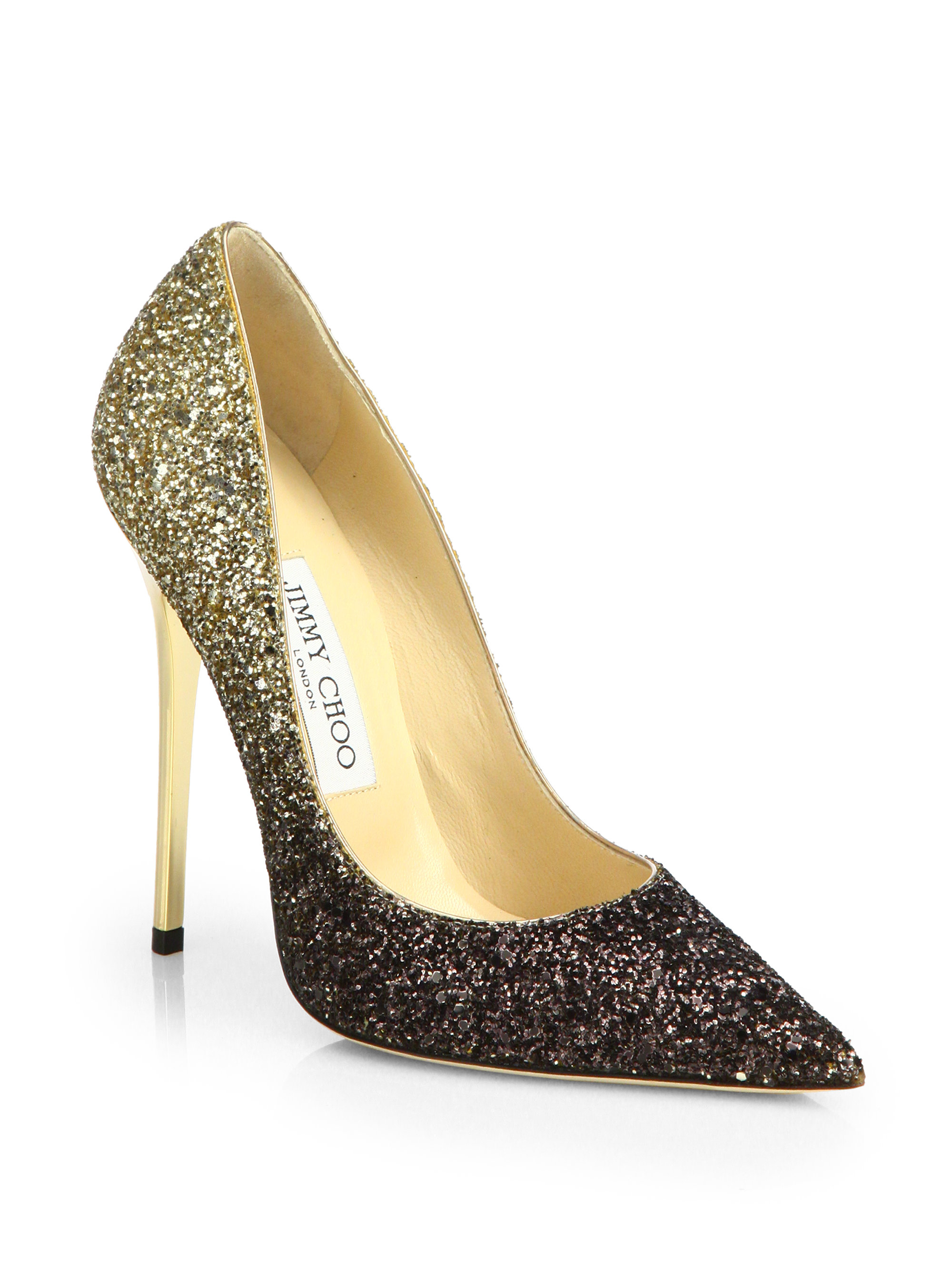 1085ffadd8c9 ... release date lyst jimmy choo anouk 120 glitter degrade pumps in  metallic 352d0 80881