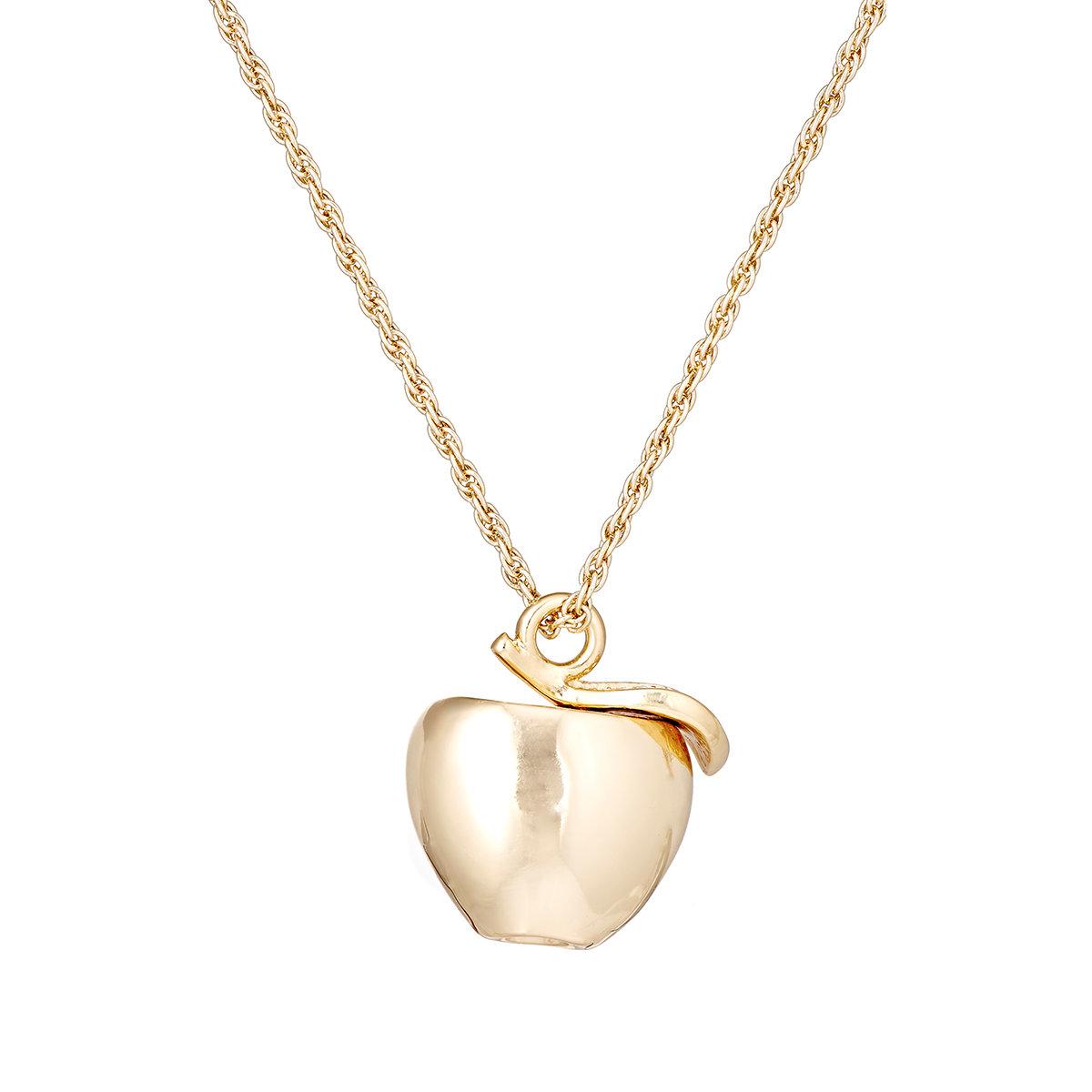Lyst kenneth jay lane womens apple pendant necklace in metallic gallery aloadofball Gallery